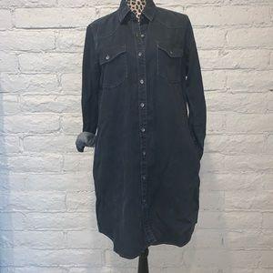 GAP Dark Denim Button Down Dress